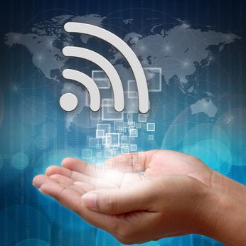 wifi symbol on hand