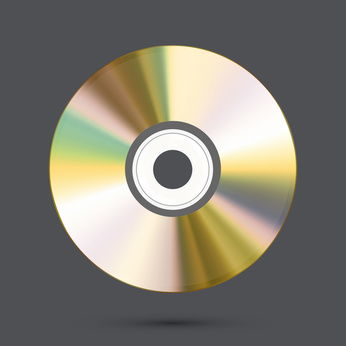 Vector modern disc on gray background. Eps10